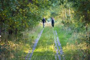 Wandern auf dem Kolonnenweg. Bildquelle: Frankenwald-Tourismus & A. Hub