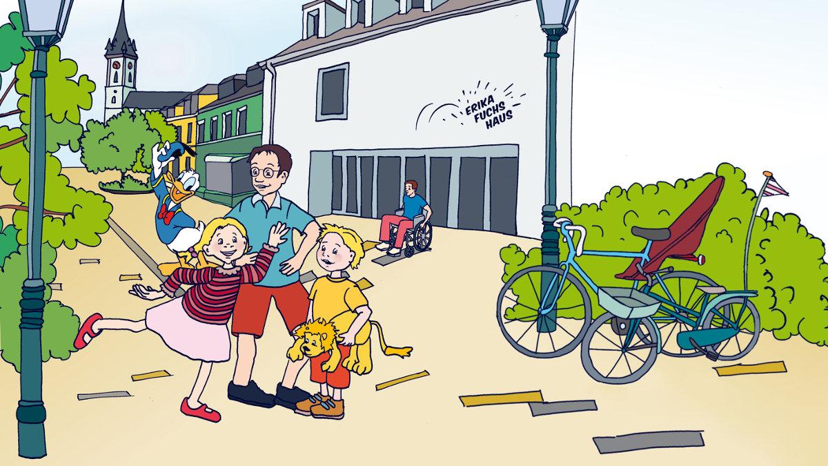Erika-Fuchs Haus, Comicmuseum in Schwarzenbach/Saale - Fahrradtour Stadt Land Hof