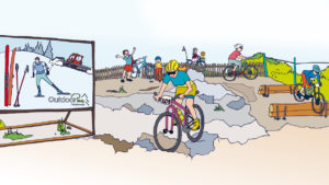 Frankenwald Loipennetz - Fahrradtour durch Stadt Land Hof