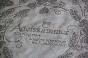 Tischdecke Gastwirtschaft Adelskammer im Frankenwald