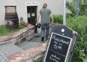 Eingang des Bad Stebener Ratskellers.