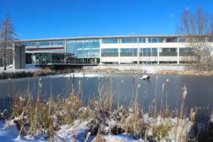 Die Südseite der Hochschule Hof - im Winter!