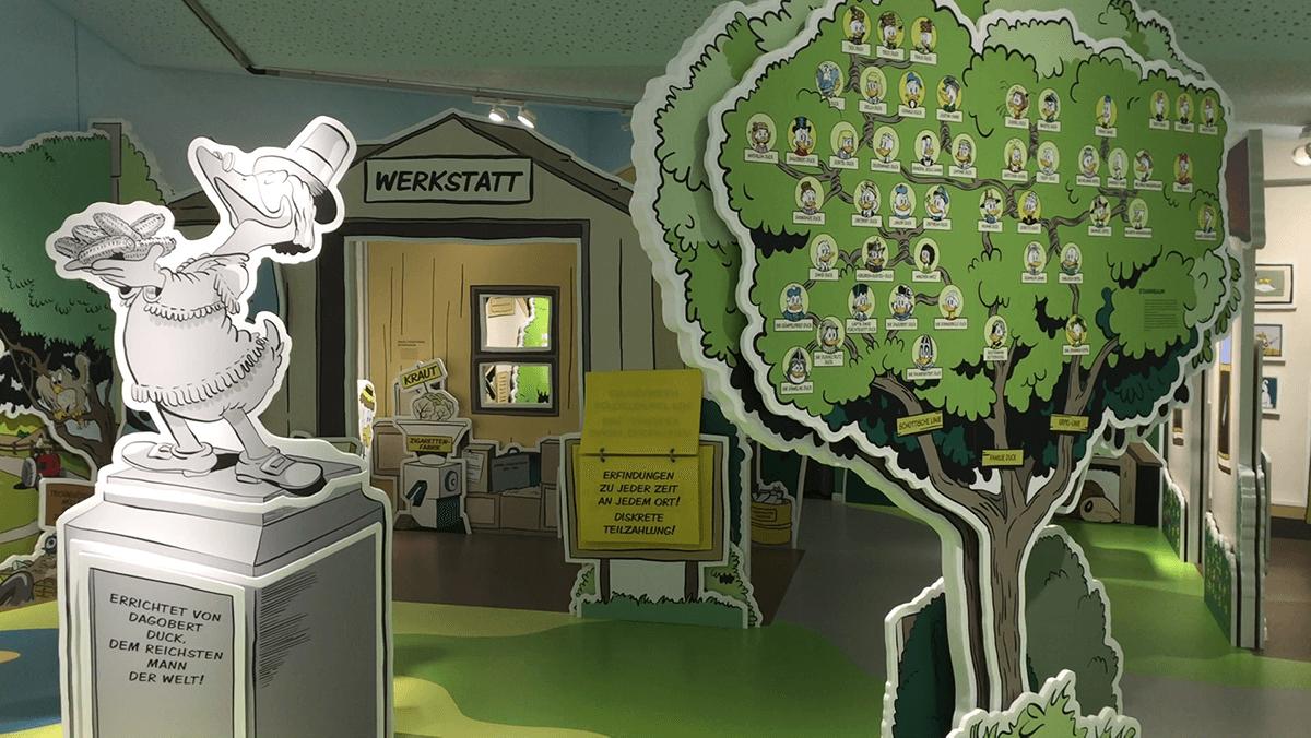 Daniel Düsentriebs Werkstatt in Schwarzenbach an der Saale