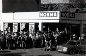Grenzoeffnung in Hof bei Norma