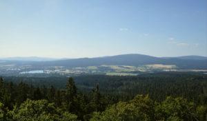 Blick vom großen Waldstein zum Weißenstädter See