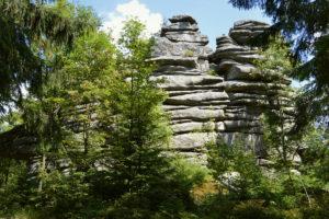 Drei Brüder Felsen im Fichtelgebirge