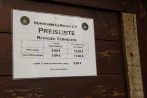 Preisliste Kommunbräu Rehau e.V.