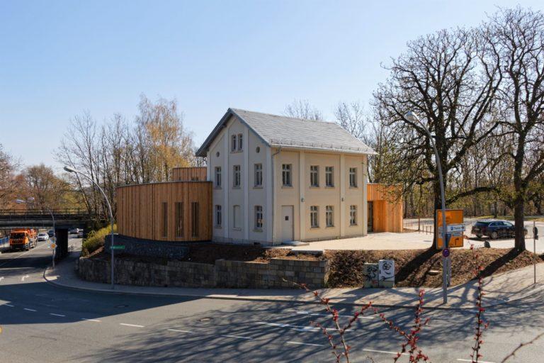 Klangmanufaktur Hof, Stadt Hof, Hof Saale, Probenraum, Architektur, Hofer Symphoniker, Altbau, Teilneubau, Laerchenholz, Architektur
