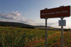 Urlaub Frankenwald Landkreis Hof Wasserscheide Elbe Rhein