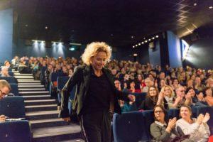 Schauspielerin Katja Riemann im Hofer Centralkino zu den Internationalen Hofer Filmtagen.