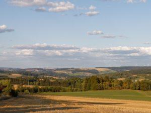 Frankenwald Wandern Landschaft bei Bad Steben in Oberfranken Wald