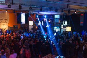 Party in Hof an der Saale Filmtage Hoftex-Halle
