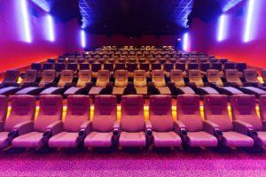 Kino 1 des Central Kinos; Hof Saale; Oberfranken; Lichtstimmungen.