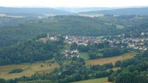 Burg Lichtenberg in Oberfranken, Frankenwald, Mittelgebirge, Wandern