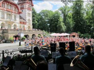 Stadt Hof; Biergarten; Park; Theresienstein