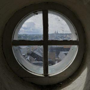 Hof an der Saale; Rathaus Turm; Fenster; Ausblick
