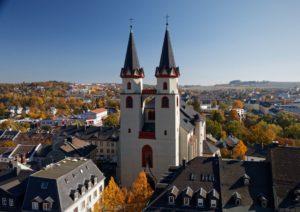 Hof an der Saale; Rathaus Turm; Michaeliskirche; Ausblick