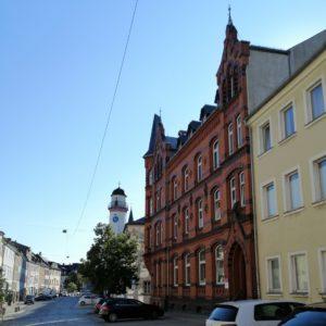 Klosterstraße; Stadt Hof; Rathaus; Musikschule Hofer Symphoniker