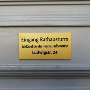 Rathausturm; Aussichtsturm; Stadt Hof;