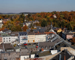 Hof an der Saale; Rathaus Turm; Theresienstein; Museum; Ausblick