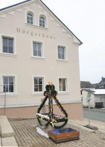 Oberfranken Brunnen geschmückt, Trogen in Hofer Land