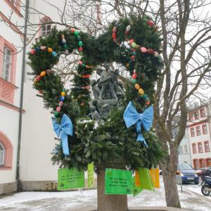 Rathausbrunnen Osterbrunnen Stadt Hof