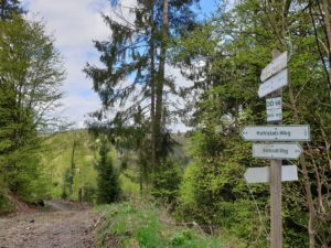 Mehrere interessante Wandertouren treffen am Hahnenkamm bei Dürrenwaid aufeinander.