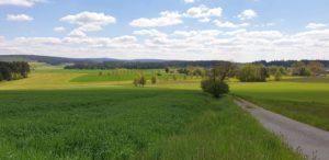 Mittelgebirgslandschaft bei Kleinlosnitz im Landkreis Hof. (Bild: D. Müller)
