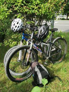 Sonntag um 9.00 Uhr. Die Fahrräder stehen bereit, Rucksack ist gepackt - es kann losgehen!