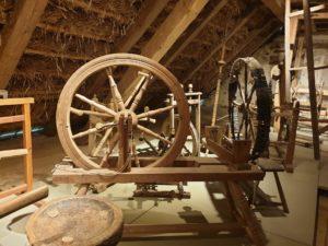 Spinnrad, Bauernhofmuseum Kleinlosnitz, Dietelhof
