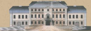"""Bauplan des Püttner-Palais in der unteren Ludwigstraße in Hof. Der Bauherr Jacob Heinrich Püttner galt einst als """"reichster Mann der Stadt"""" und war u. a. als Verleger tätig (VHS Hofer Land)."""