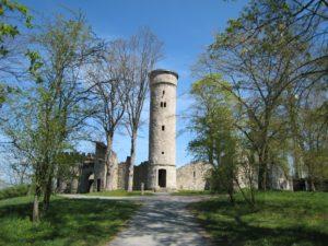 Theresienstein: Auch eine Burgruine, die das Mittelalter romantisiert, durfte im Hofer Bürgerpark nicht fehlen. Bildquelle: Stadt Hof, Bilderservice)