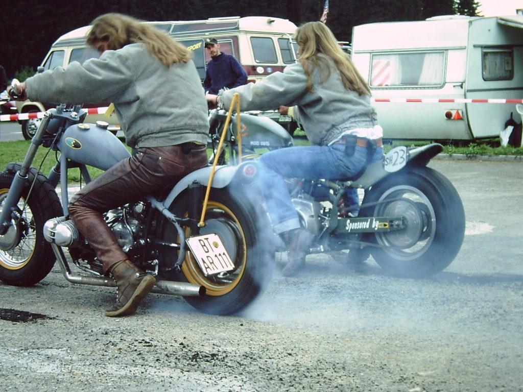 Von Jugend an Motorrad Fans: 12. Big-Twin-Burnout 1993.