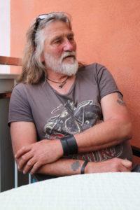 Stephan Schneiderbanger beim Interview in Schwarzenbach an der Saale