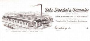 Historische Weberei Stoeckel & Grimmler: Die junge Firma konzentrierte sich auf teure Jacquard-Stoffe.
